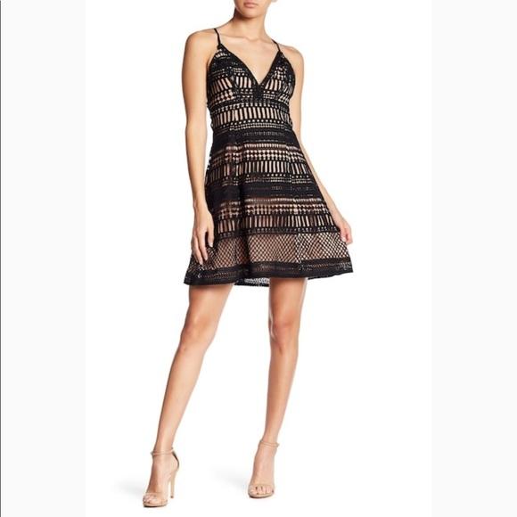 9f1904e11cc0 Astr Dresses & Skirts - Astr the Label Black Nude Crochet Lace Dress Large